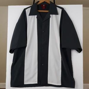 Strike Spare Button Down Bowling Shirt 3XL